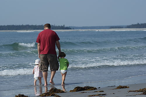 Me and kids on the beach
