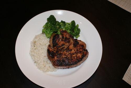 Pork plated